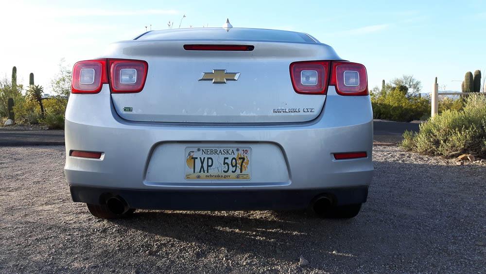 Rückansicht des Chevrolet Malibu