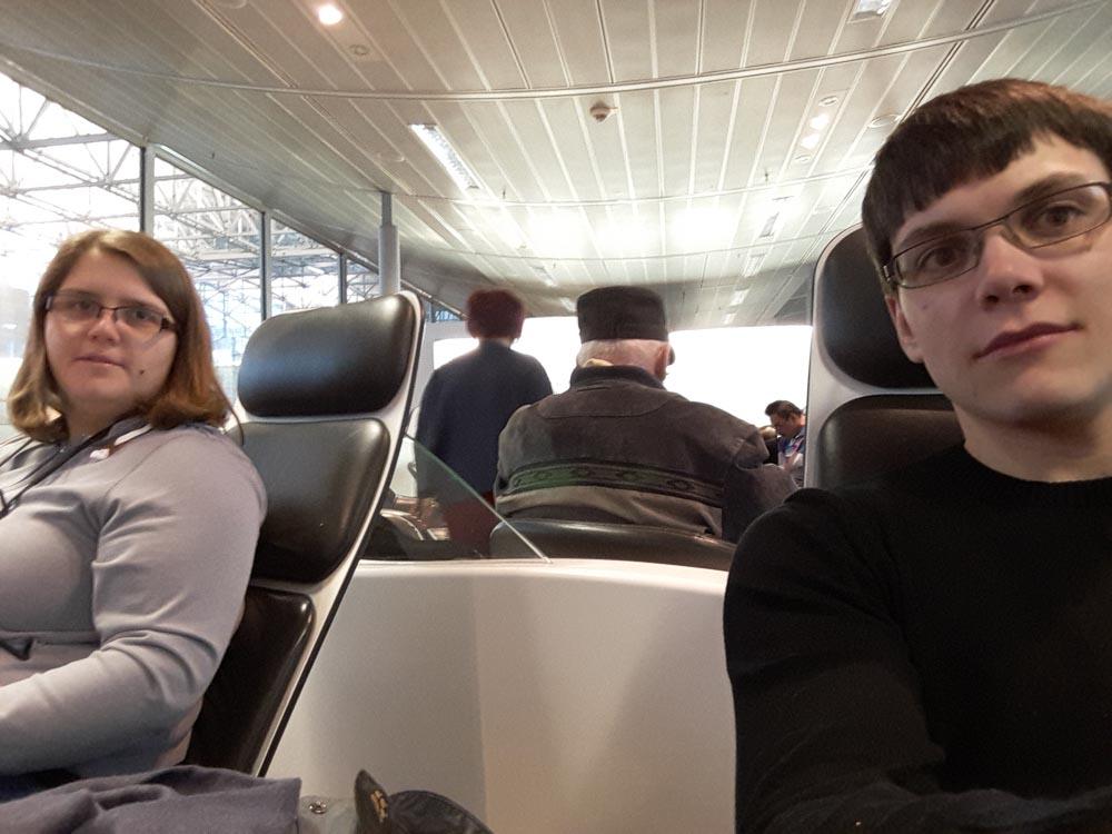 Wir warten auf den Flug nach Las Vegas