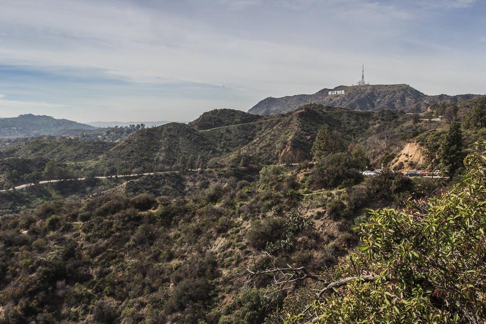 Hollywood-Schild vom Griffith Observatory aus gesehen