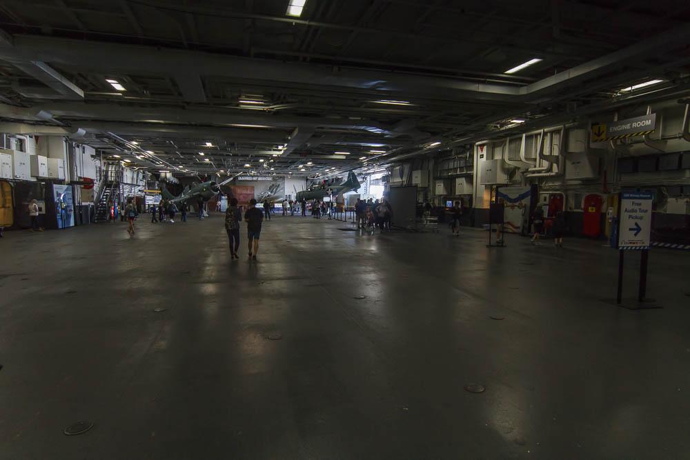 Hangar des Flugzeugträgers USS Midway