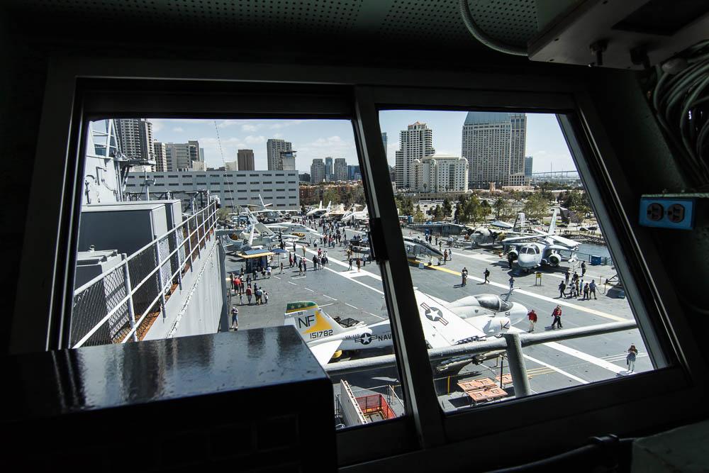 Auf der Brücke während unserem Besuch der USS Midway