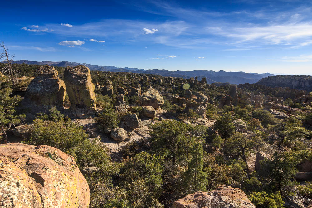 Felsformationen im Chiricahua National Monument. Einer unserer Top 10 der Sehenswürdigkeiten in Arizona.