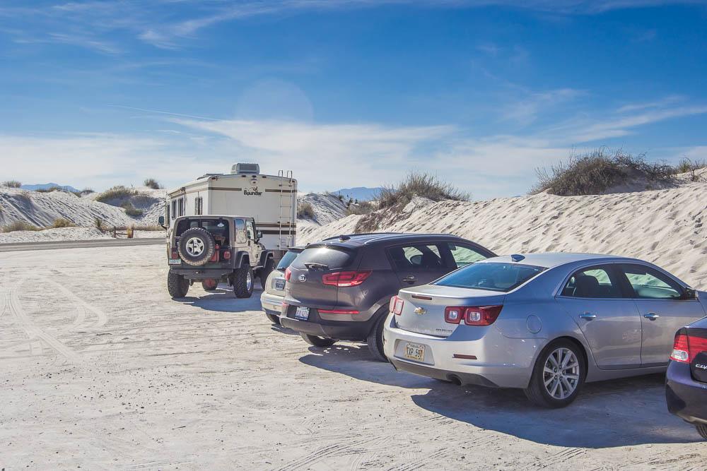 Auf dem Weg von Silver City nach Alamogordo haben wir das White Sands National Monument besucht