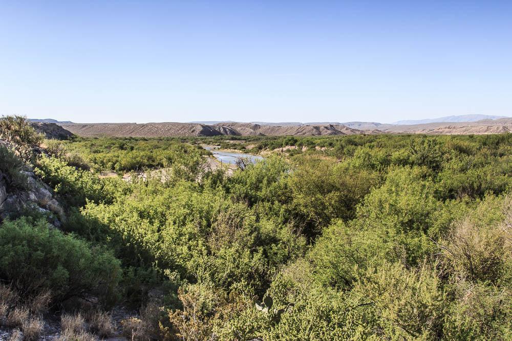 Blick auf den Rio Grande im Big Bend National Park