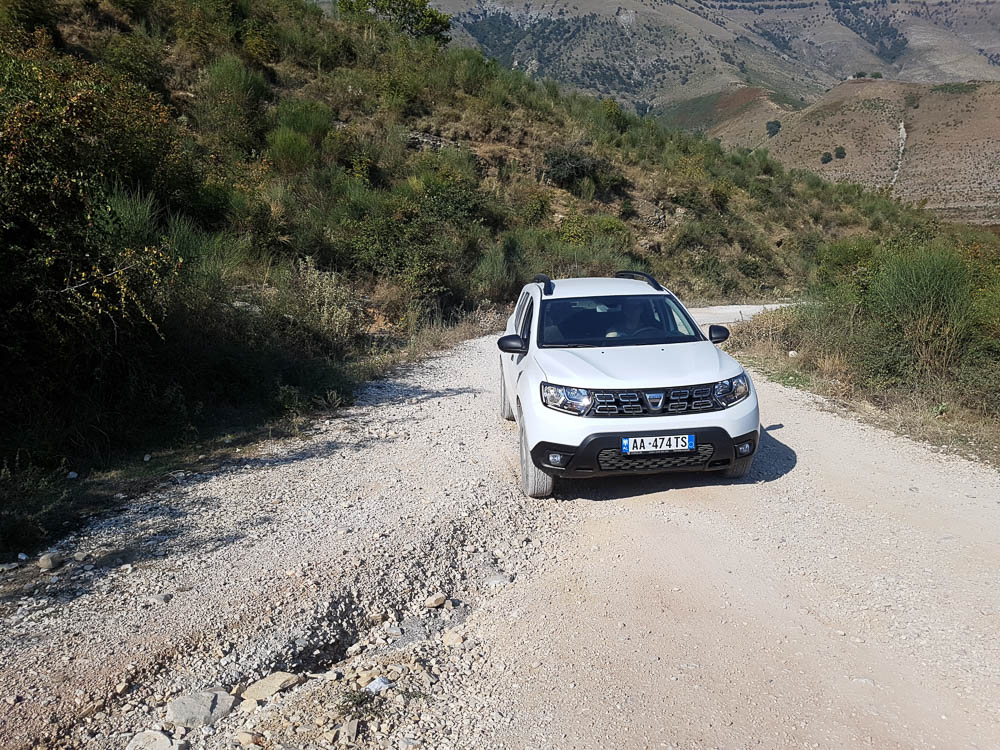 Nebenstraße in Albanien