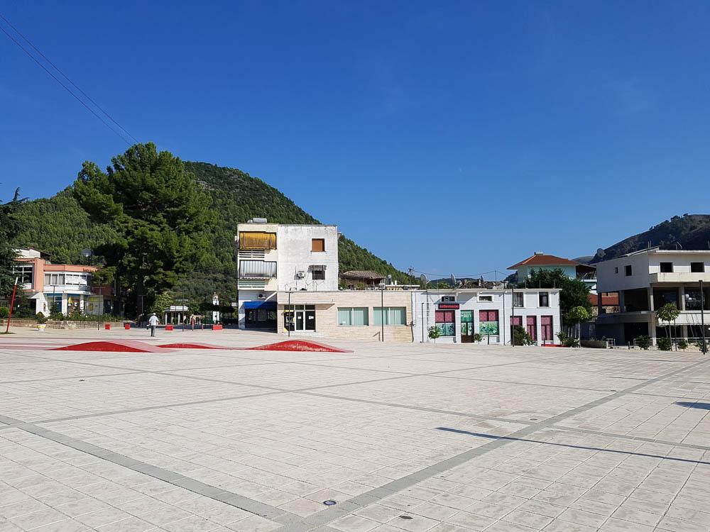 Marktplatz von Delvina