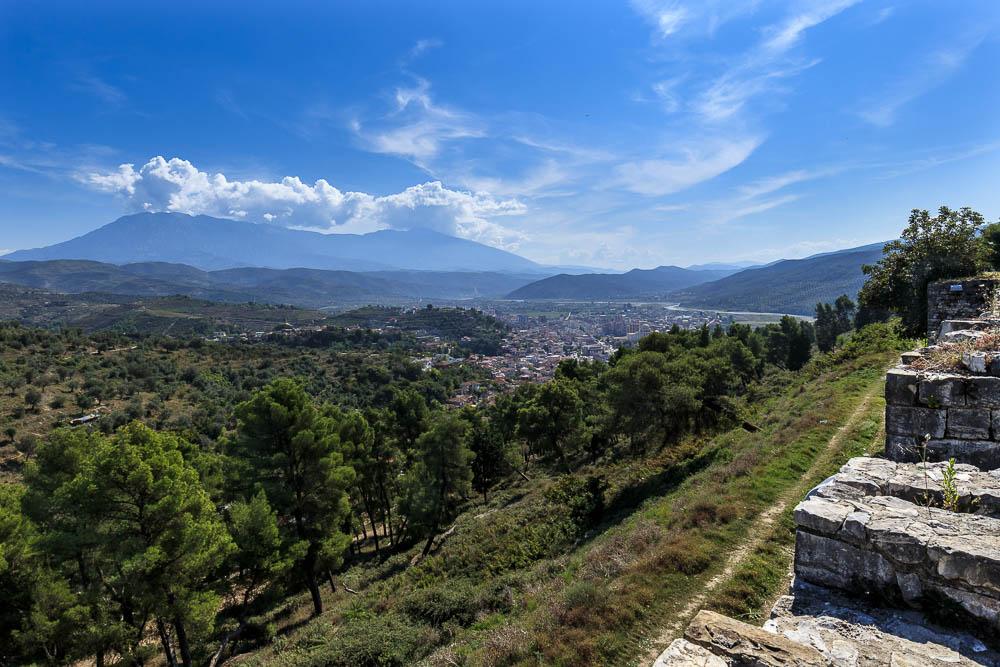 Blick von der Burg Berat