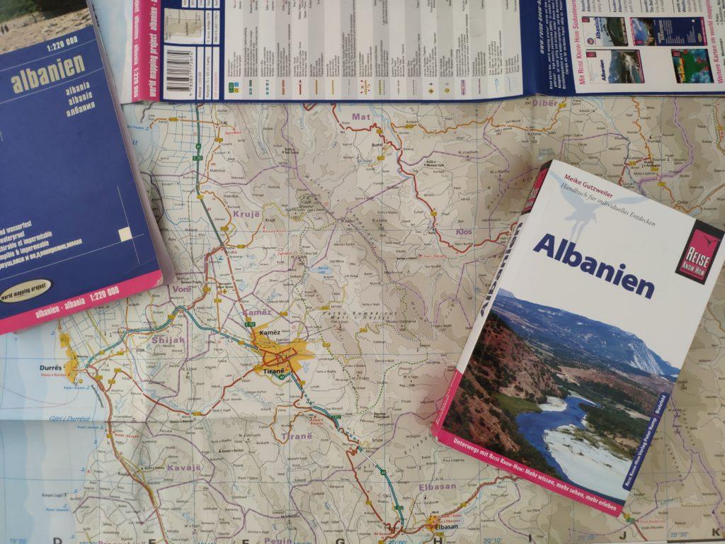 Utensilien für die Planung deiner Albanienreise