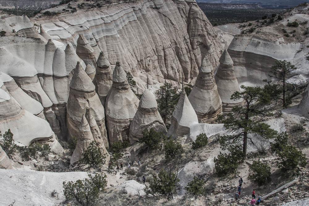 Tent Rocks im Kasha Katuwe Tent Rocks National Monument zwischen Albuquerque und Santa Fe