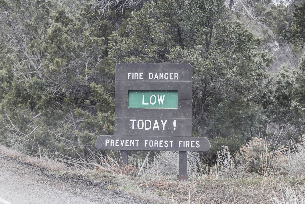 Keine Brandgefahr, dafür aber Schnee im Mesa Verde National Park
