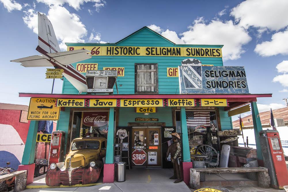 Souvenirshop in Seligman an der Route 66