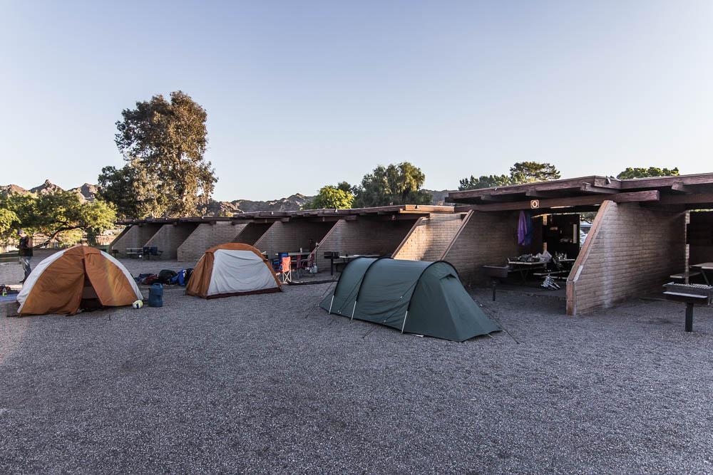 Zelten im Buckskin Mountain State Park