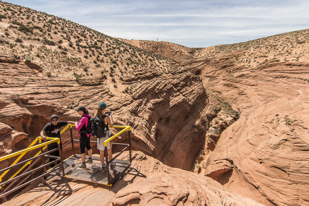 Zustieg zum Lower Antelope Canyon
