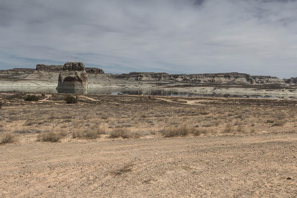 Blick auf den Lone Rock