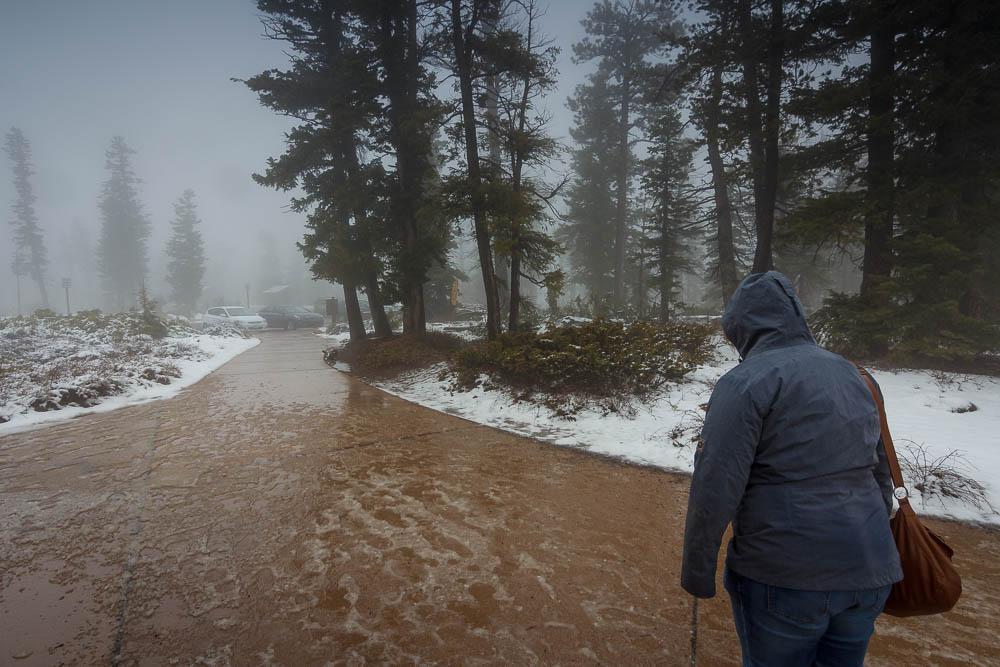 Matsch und Schnee im Bryce Canyon National Park