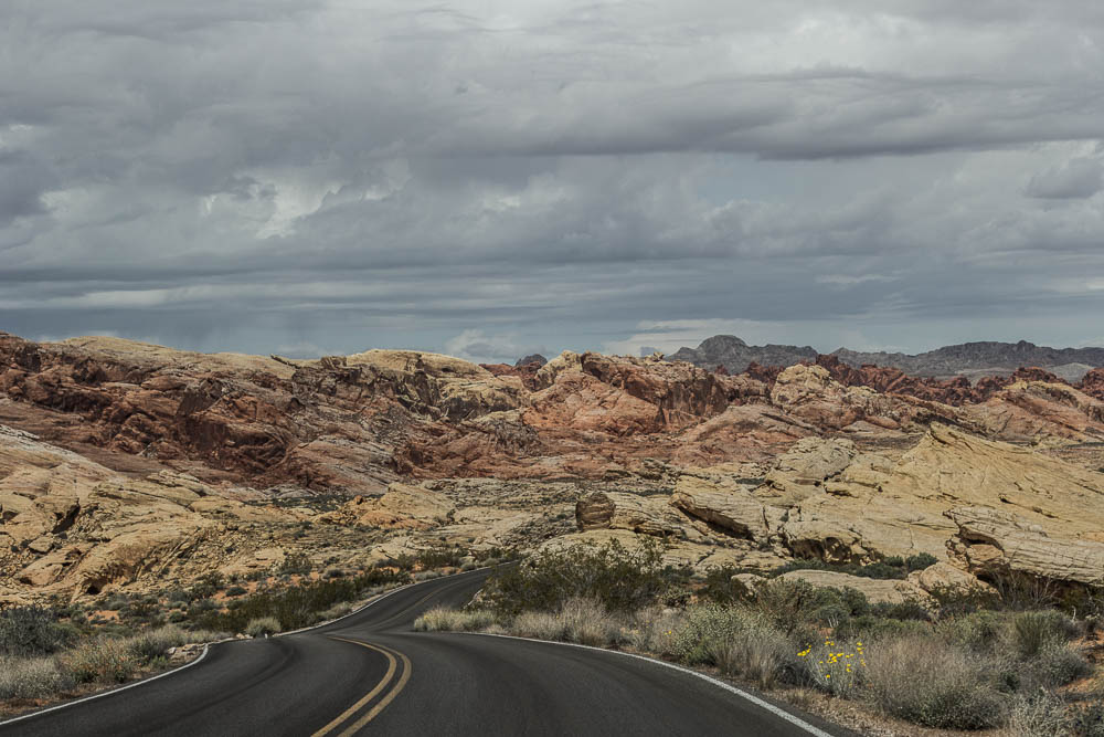 Highway im Valley of Fire State Park