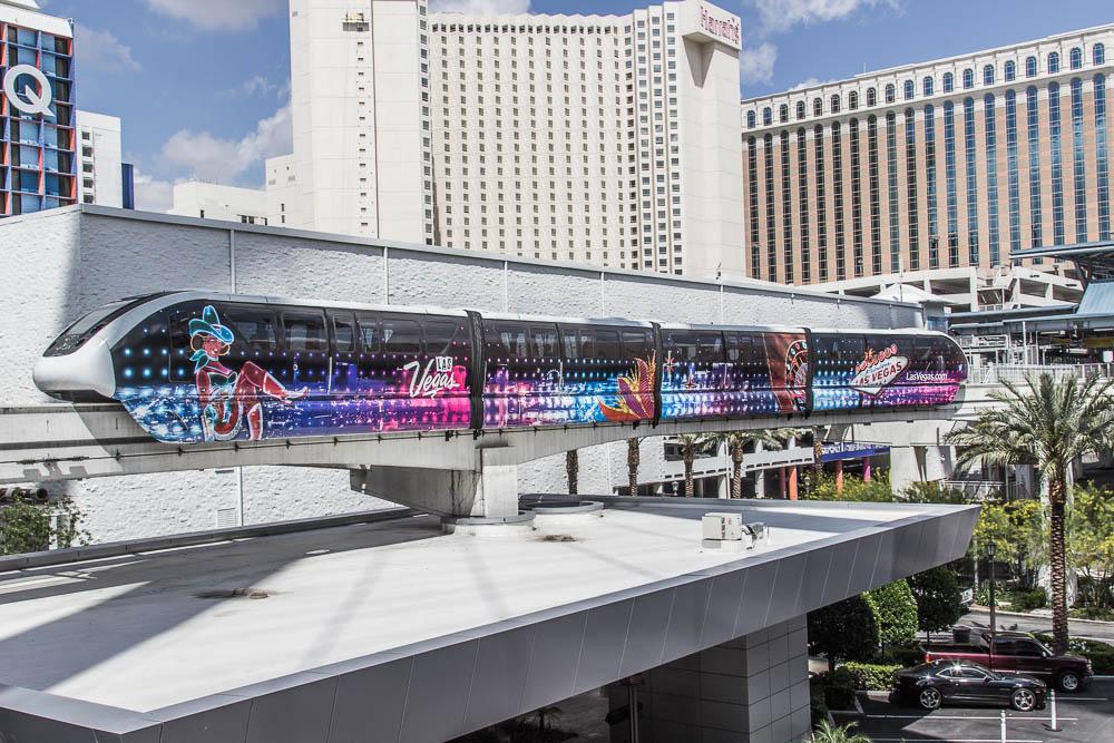 Der Zug entlang des Las Vegas Strip