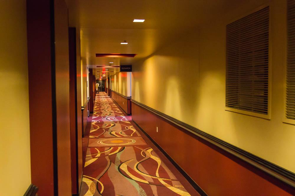 Flur im Hilton Elara in Las Vegas