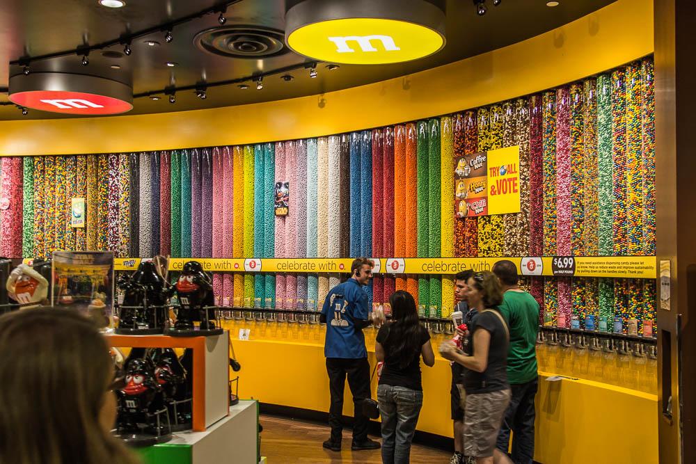 Im M&M's Store am Las Vegas Strip