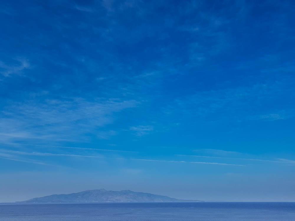 Die Insel Korfu von Saranda aus gesehen