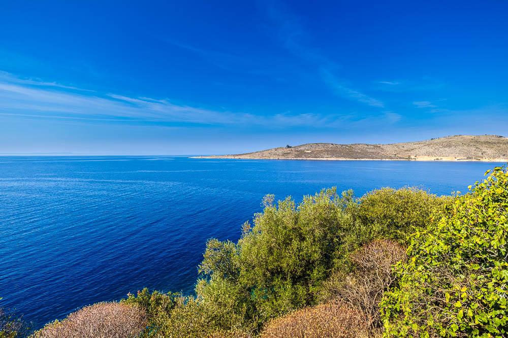 Ausblick gen Norden von Porto Palermo aus