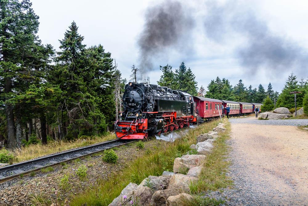 Die Dampflok der Brockenbahn, betrieben durch Harzer Schmalspurbahn.