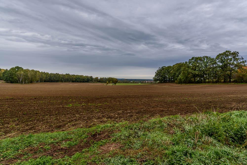 Blick in die Landschaft von Großkmehlen aus.