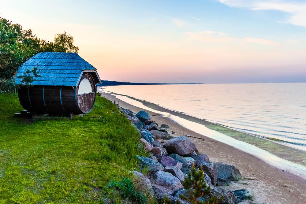 Schlafhütten an der Ostsee