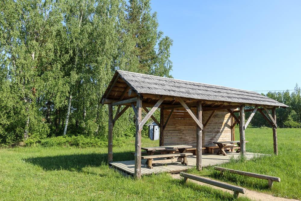 Rastplatz im Sliteres Nationalpark