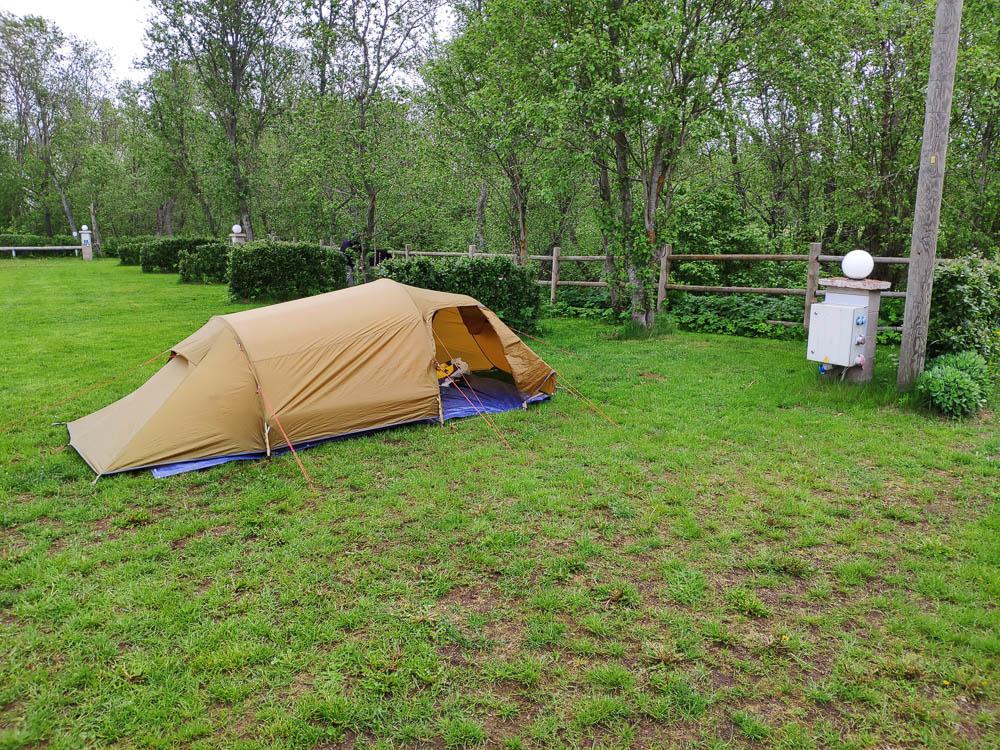 Zelt am Campingplatz Mereoja in Estlands Norden