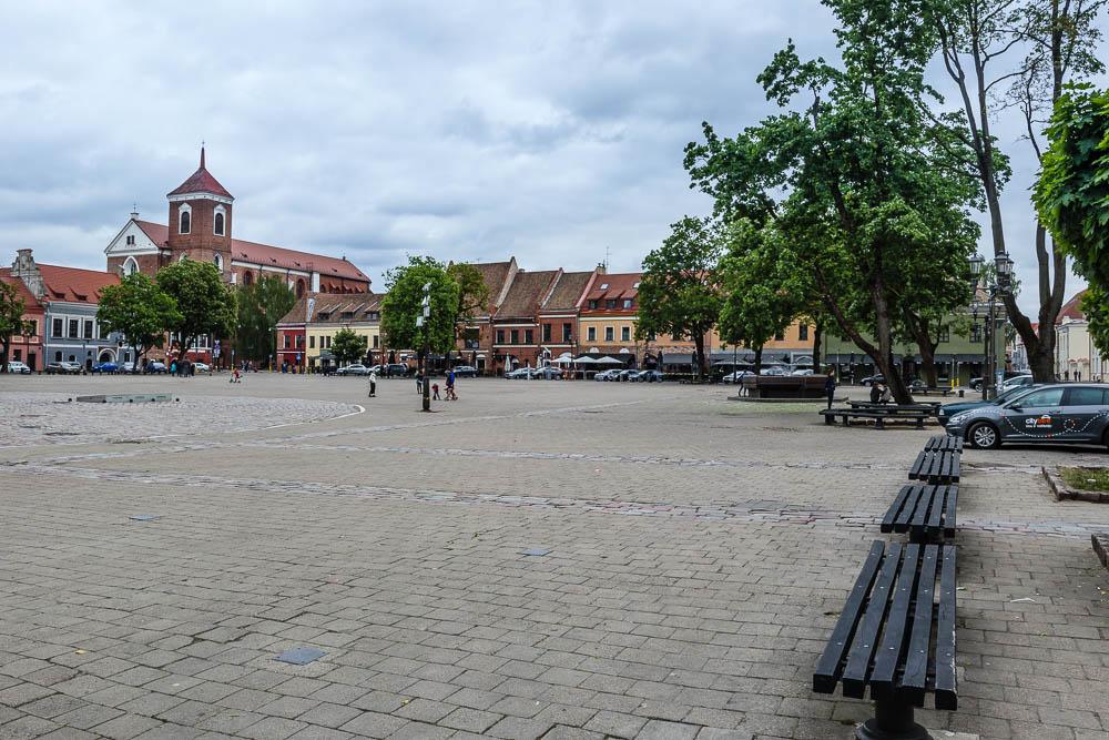 Zentraler Platz der Altstadt von Kaunas
