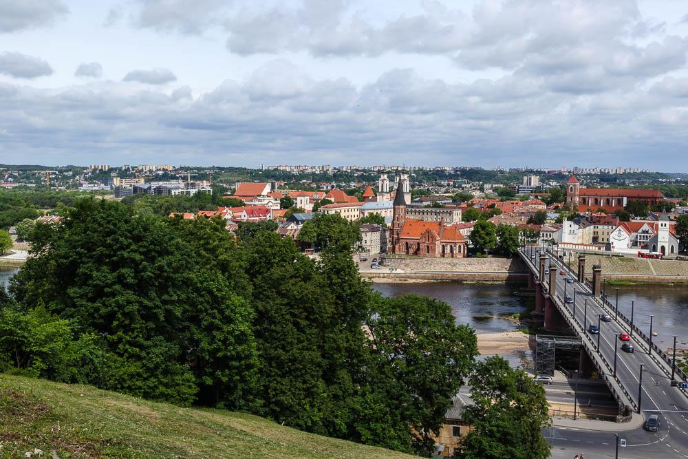 Blick auf die Altstadt von Kaunas