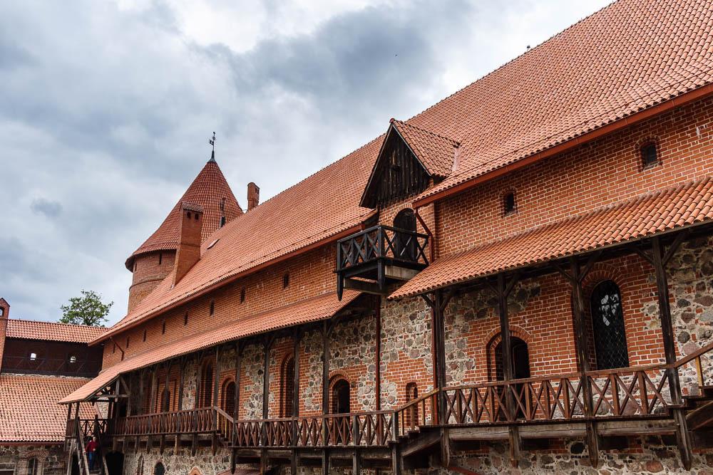 Im Innenhof der Burg von Trakai