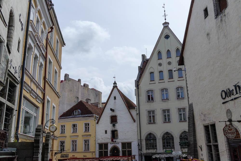 Alte Häuser in Tallinns Altstadt