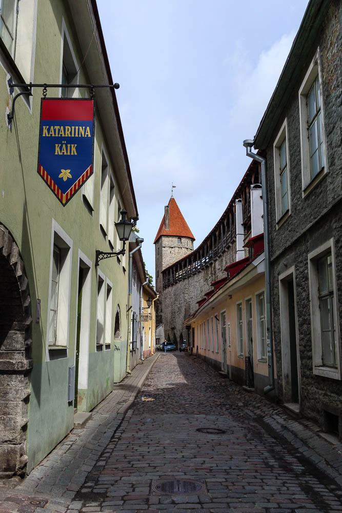 Enge Gassen in der Altstadt Tallinns