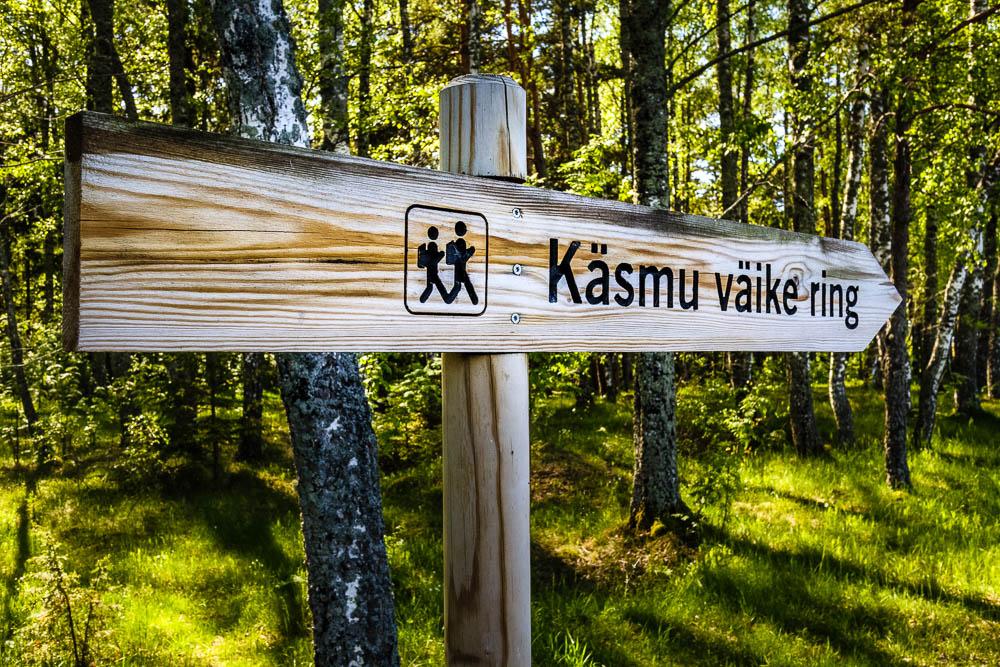 Wanderschild Käsmu väike ring im Lahemaa Nationalpark