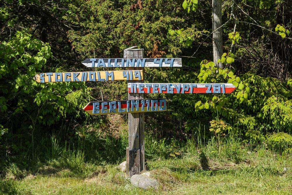Wegweiser im Lahemaa Nationalpark