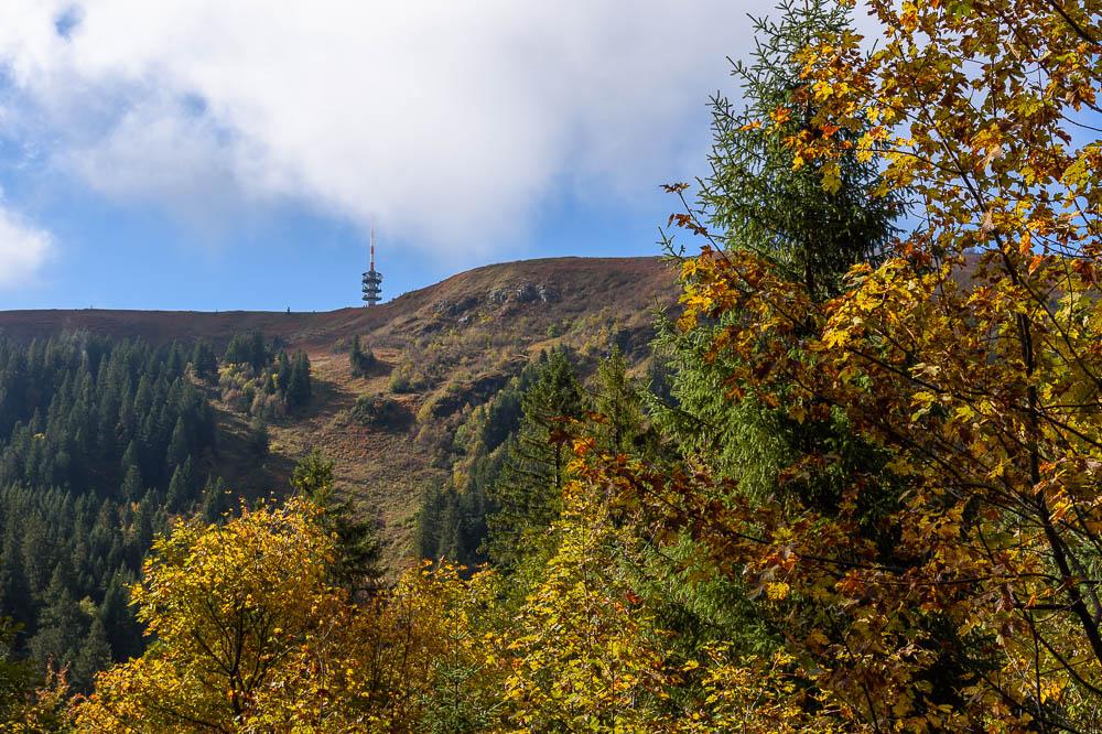 Herbstlicher Blick auf den Feldberg