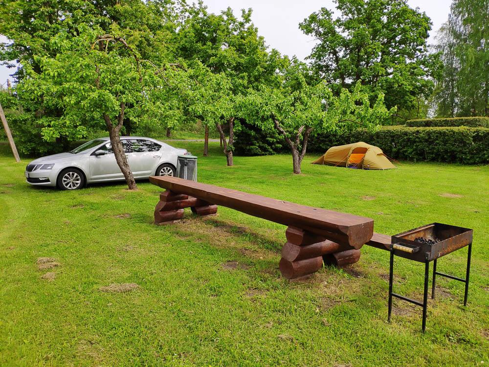 Zeltplatz auf Ermistu Puhkeküla