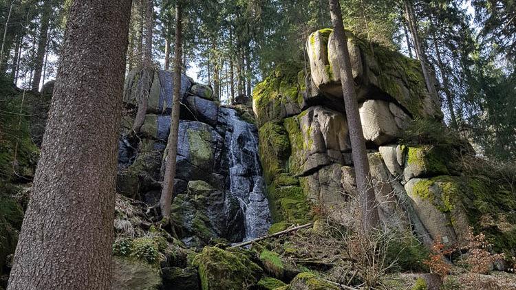Ausflugstipp Sachsen: Blauenthaler Wasserfall im Erzgebirge