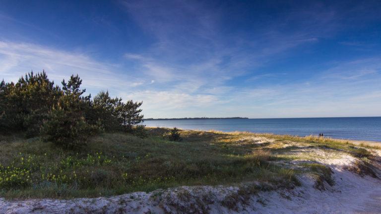 Ostseestrand nahe dem Freizeitcamp am Wasser auf Rügen