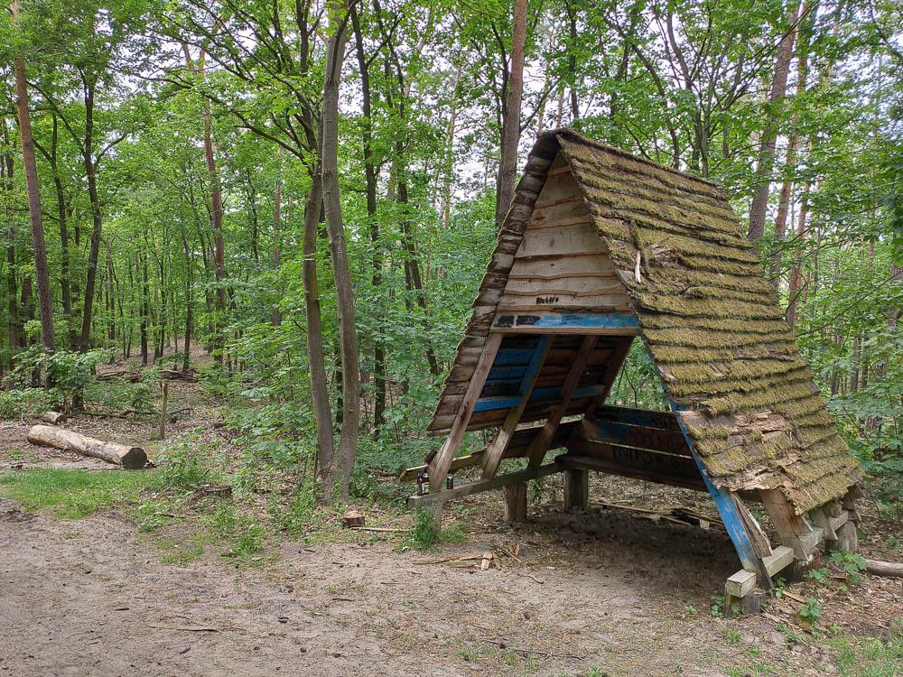 Marode Schutzhütte nahe dem Großen Müggelberg