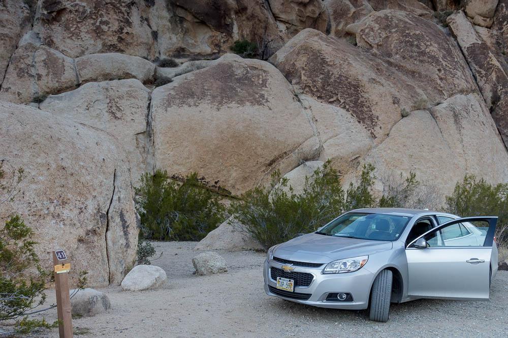 Chevrolet Malibu auf dem Indian Cove Campground