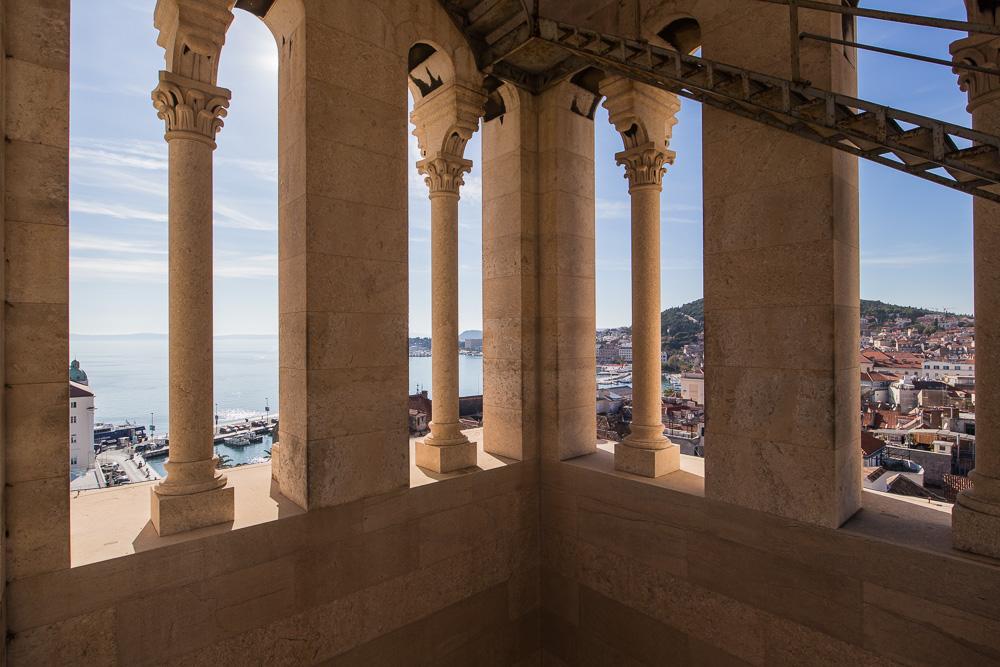 Im Inneren des Turm der Kathedrale von Split