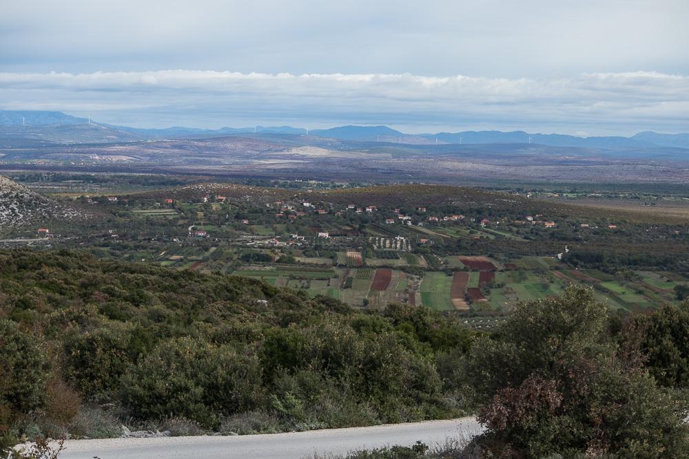 Aussicht ins Landesinnere vom Berg Kamenjak aus