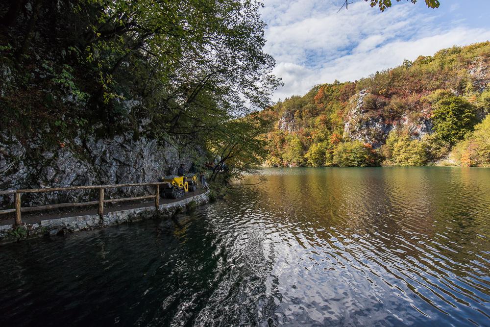 Baustelle auf einem der Wanderwege des Nationalparks Plitvicer Seen