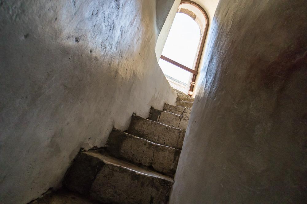 Es war wirklich eng und steil auf den Treppen des Turms der Kathedrale Zadars