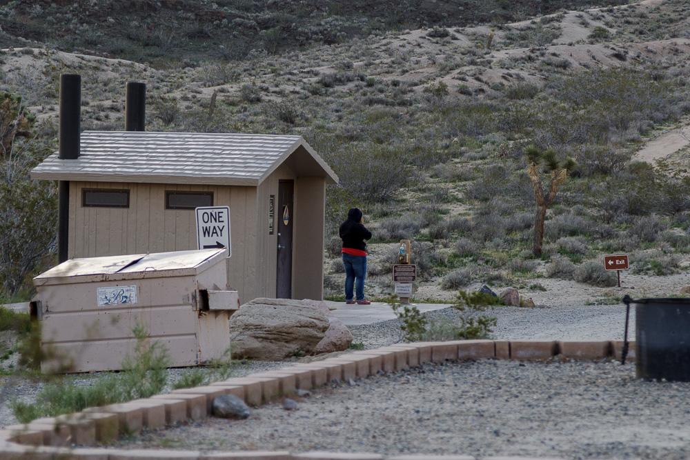 Sanitäranlagen des Ricardo Campground im Red Rock Canyon State Park.