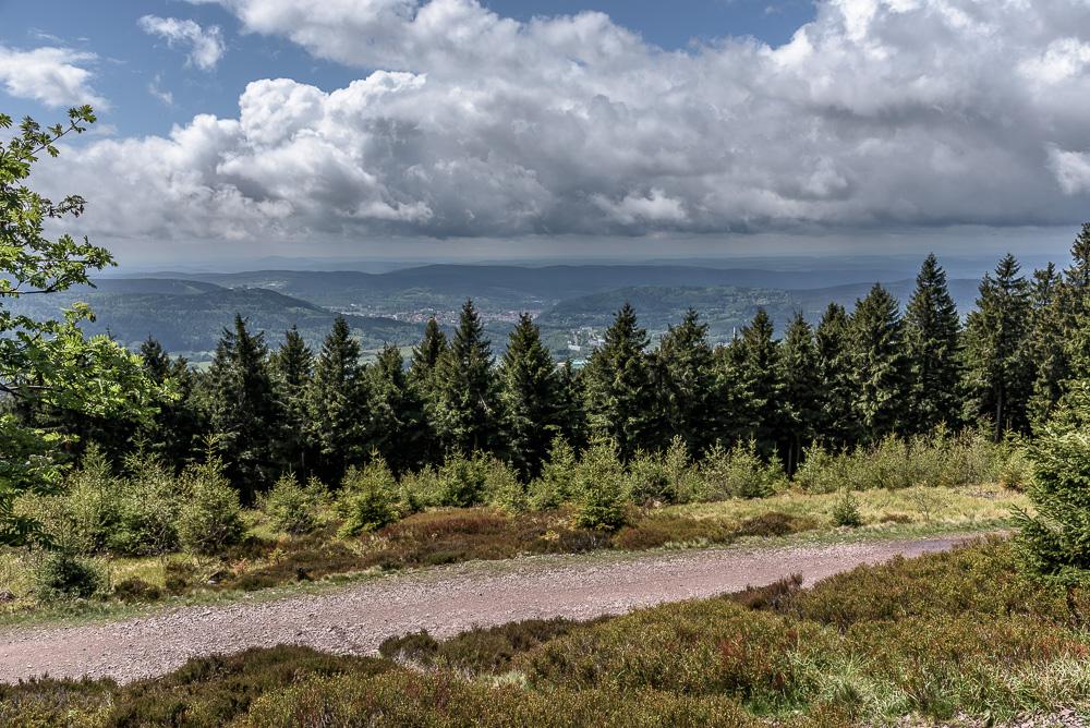 Die Aussicht von der Aussichtsplattform am Großen Beerberg