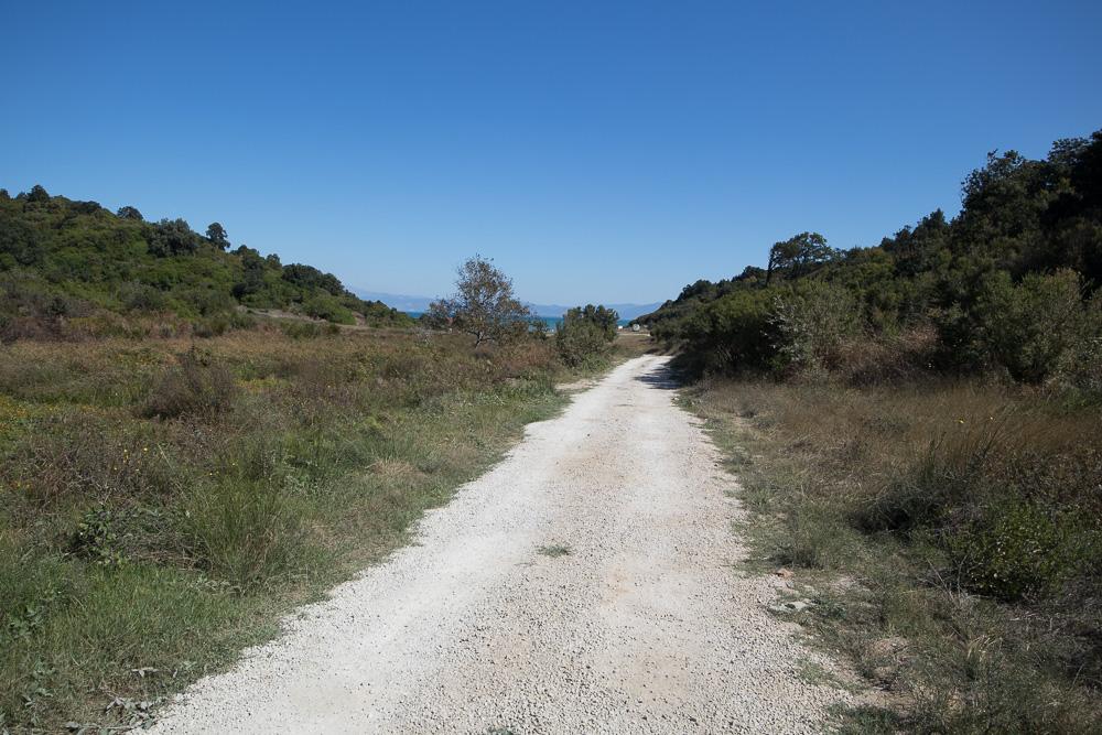 Schotterweg auf der Landzunge Kepi i Rodonit